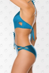 SHINY CUT OUT MONOKINI